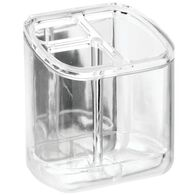 AFFIXX Clear Toothbrush & Toothpaste Holder