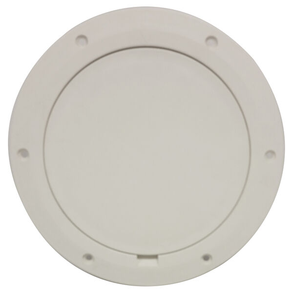 "DPI 8-1/8"" Pry-Out Cover/Deck Plate, Polar Bright White"
