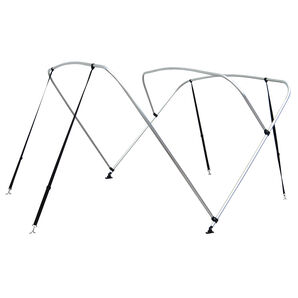 "Shademate Bimini Top 3-Bow Aluminum Frame Only, 6'L x 36""H, 85""-90"" Wide"