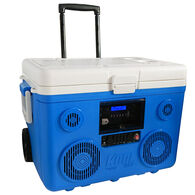 40-Quart Wheeled Cooler, Bluetooth PA System and Power Station - Blue