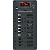 Blue Sea 12/24V DC Branch Circuit Breaker Panel: 10 Position, Digital Multimeter