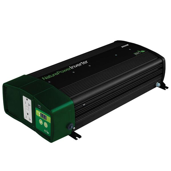 Nature Power Sine Wave Inverter Chargers 2000 Watt With 55 Amp Battery Charger Camping World