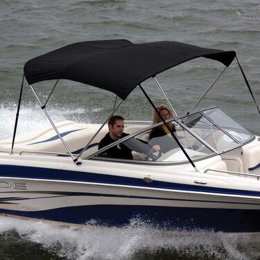 Shademate Sunbrella Stainless 3-Bow Bimini Top 6'L x 36''H 73''-78'' Wide