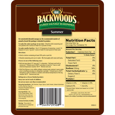 LEM Backwoods Summer Sausage Cured Sausage Seasoning, 5 lbs.