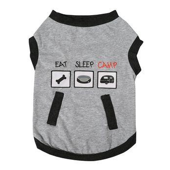 Camping Pet Tee, Medium
