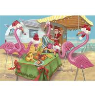 Camping World Christmas Card Collection, Santa & Flamingos