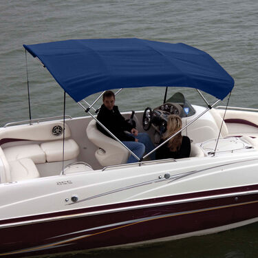 """Shademate Polyester 4-Bow Bimini Top, 8'L x 54""""H, 79""""-84"""" Wide"""