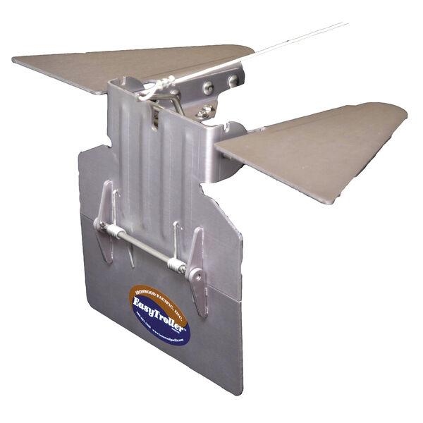 EasyTroller Hinged Metal Trolling Plate, Standard Plate with Hydrofoil Fins
