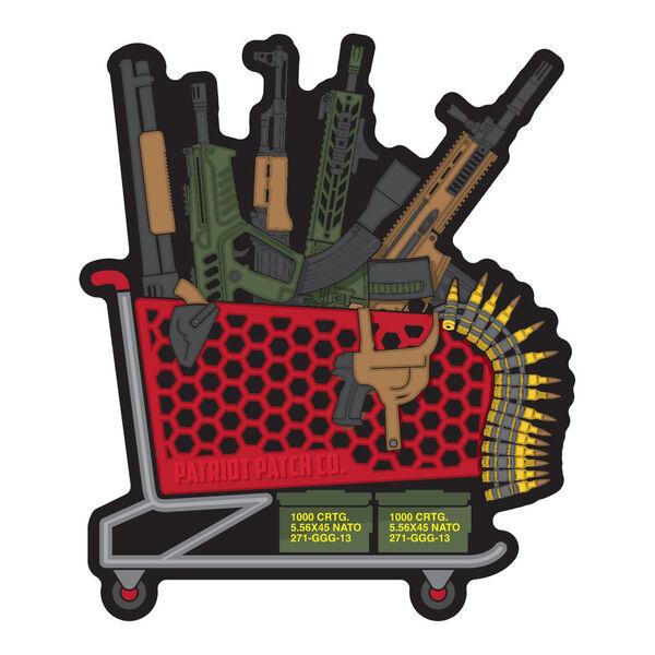 Patriot Patch Gun Store Shopping Cart Sticker