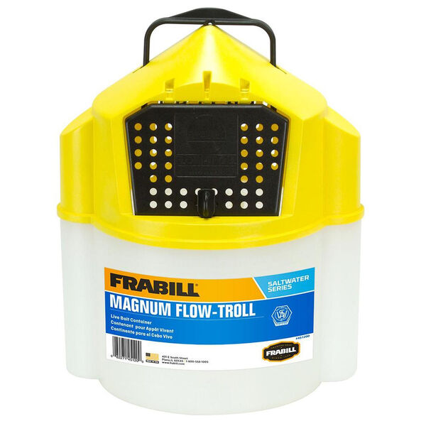 Frabill Magnum Shrimp Flow-Troll Bait Bucket