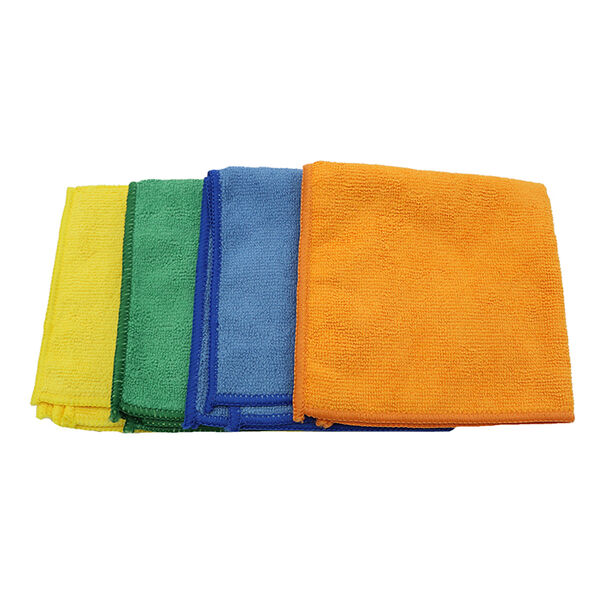 GRIP Microfiber Cleaning Cloths, 4-Pack