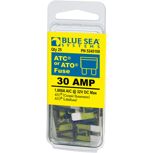 Blue Sea Systems 30A ATO/ATC Fuse (25 Pack)