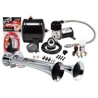 Compact Chrome Dual Truck Air Horn Kit
