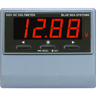 Blue Sea DC Digital Voltmeter with Alarm, 0-60V