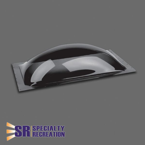 "16"" x 26"" Exterior Dome Skylight, Smoke"