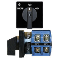 Blue Sea AC Source Selection Rotary Switch: 2 Sources, 2 Poles, 2+OFF Positions
