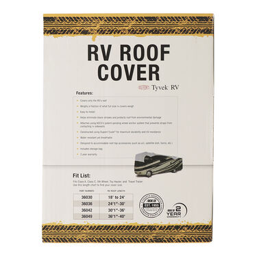 "ADCO Tyvek RV Roof Cover, 36'1"" to 40'"