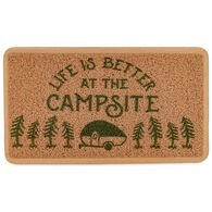 "Camco ""Life Is Better At The Campsite"" Scrub Rug, Brown"