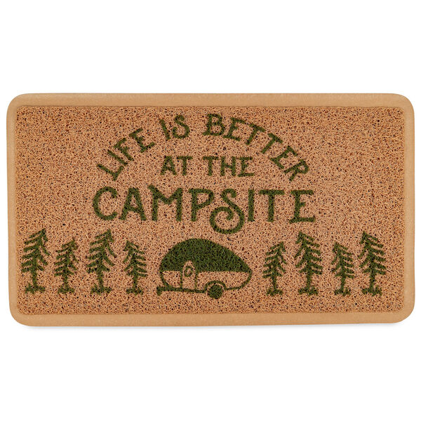 Camco Life Is Better At The Campsite Scrub Rug Brown Camping World