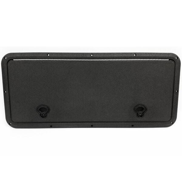 "DPI Marine DPF Black Flush Series Hatch Door, 13"" x 30"" O.D. frame"