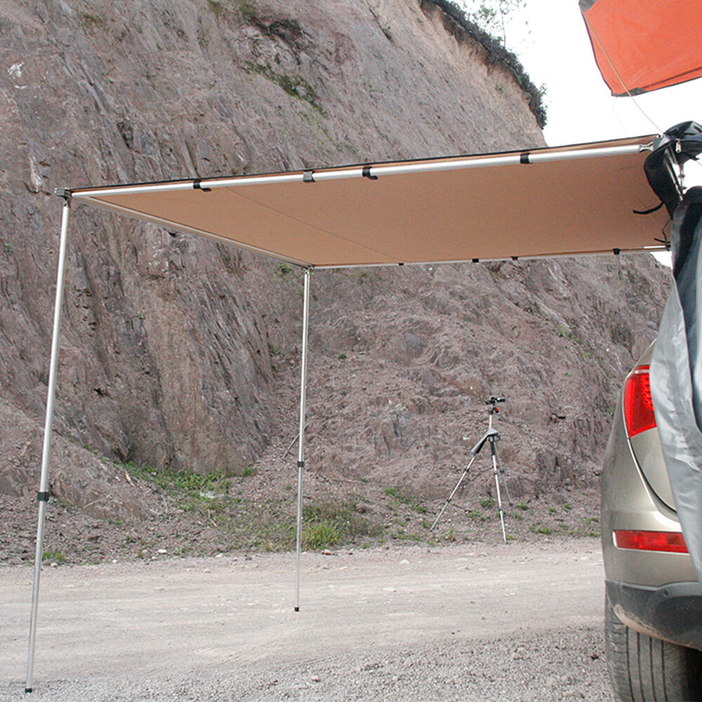 Trustmade 6.5' x 6.5' Car Rooftop Pull-Out Awning Shelter ...