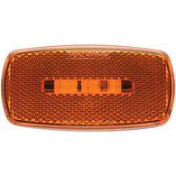 Oval LED Clearance/Marker Light; Replaceable Lens; Fleet Count; Black Base; Amber