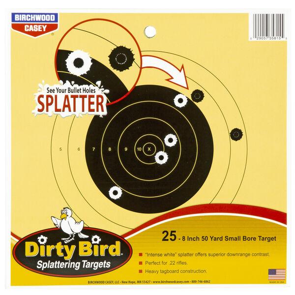 """Birchwood Casey Dirty Bird Small Bore Bullseye Target, 8"""""""