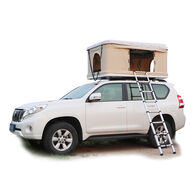 Trustmade Hard Shell Rooftop Tent, White Shell / Beige Tent