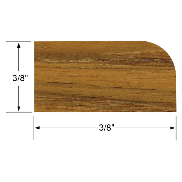 Whitecap Teak Teak Small Stop Molding, 5' long