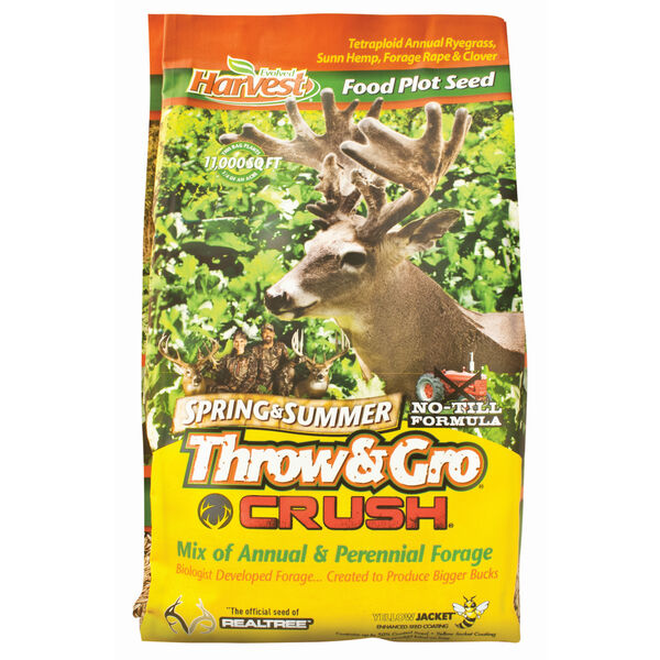 Evolved Harvest Throw & Gro Crush Spring & Summer Food Plot Seed, 3.5 lbs.