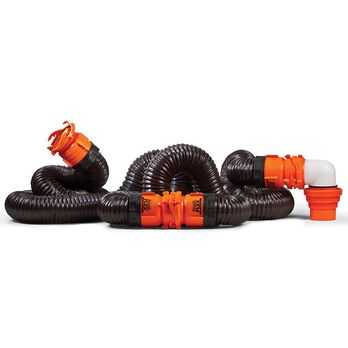 RhinoFLEX Swivel RV Sewer Hose Kit, 20'