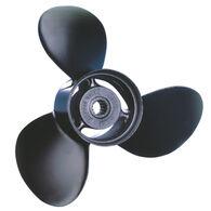 Michigan Wheel 3-Blade Prop, Pressed Rubber Hub / Alum, 9.875 dia x 10.5, RH