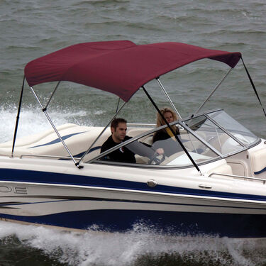 Shademate Polyester Stainless 3-Bow Bimini Top 6'L x 54''H 85''-90'' Wide