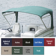 "Buggy Style Pontoon Bimini Top SurLast Polyester 1"" Free Standing Frame 90""-96""W"
