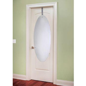 Over-the-Door Shatter Proof Mirror with Adjustable Hanging Bracket