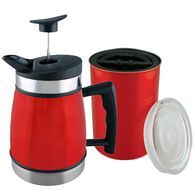 """Table Top 32 oz. French Press and 7"""" Airscape, Red Rock"""