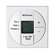 Dometic Single Zone LCD Thermostat With Control Kit, Polar White