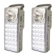 Rechargeable 24-LED Emergency Lantern and Flashlight - Set of 2