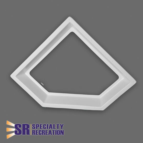 "Neo Angle Inner Garnish Skylight, Clear 24"" x 12"""