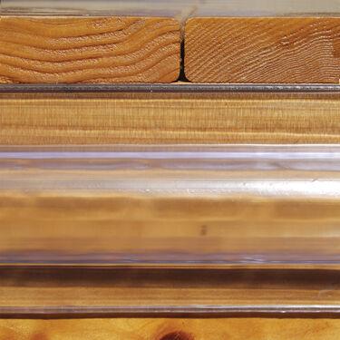 Taylor Made ClearVue Vinyl Dock Edging, Standard C-Shape