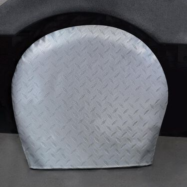 "Diamond Plate Silver Tyre Gards, 36"" to 39"""