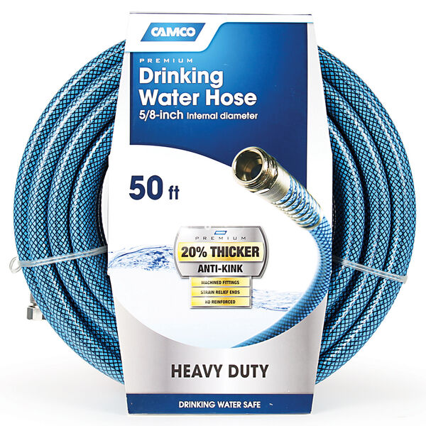 "5/8"" X 50' Drinking Water Hose, Blue"