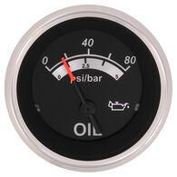 """Sierra Black Sterling 2"""" Oil Pressure Gauge"""