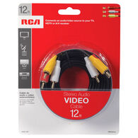 RCA Stereo Audio Video Cable, 12'