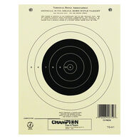 Champion Target 50 Yard Single Bull Official NRA Targets, Paper, 12-Pack
