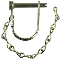 """Trailer Coupler Safety Pin Clip with Pin Saver, 1/4"""" x 1 3/8"""""""