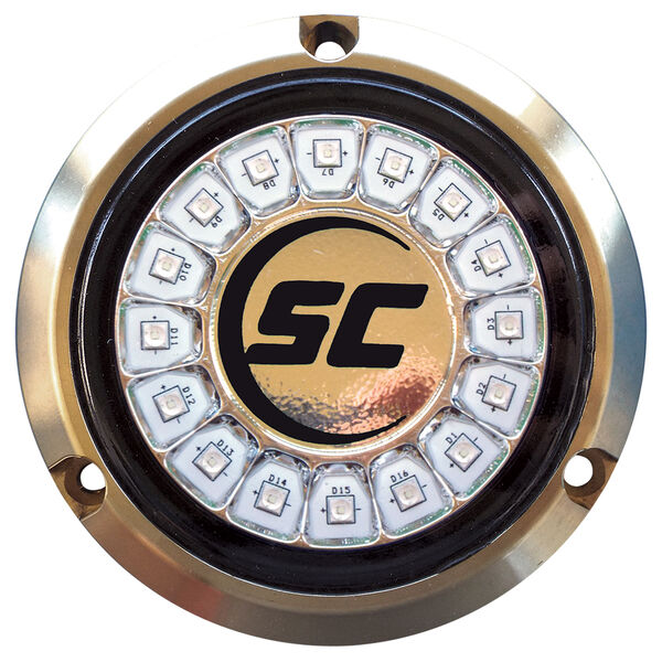 Shadow-Caster Single-Color Bronze Underwater Light – 16 LEDs, Great White