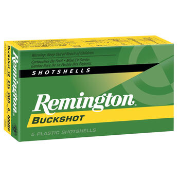 "Remington Express Buckshot, 12-ga., 2-3/4"", 9 Pellets, #00, 5 Rounds"