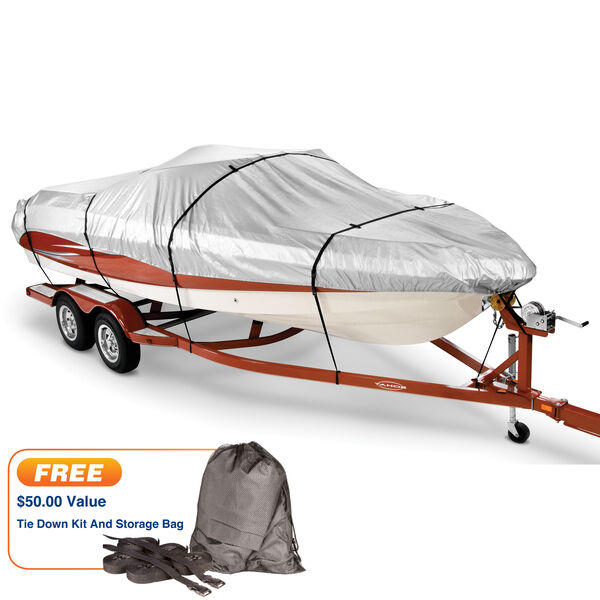 """Covermate HD 600 Trailerable Cover for 16'-18'6"""" Fish and Ski, Pro Bass Boat"""
