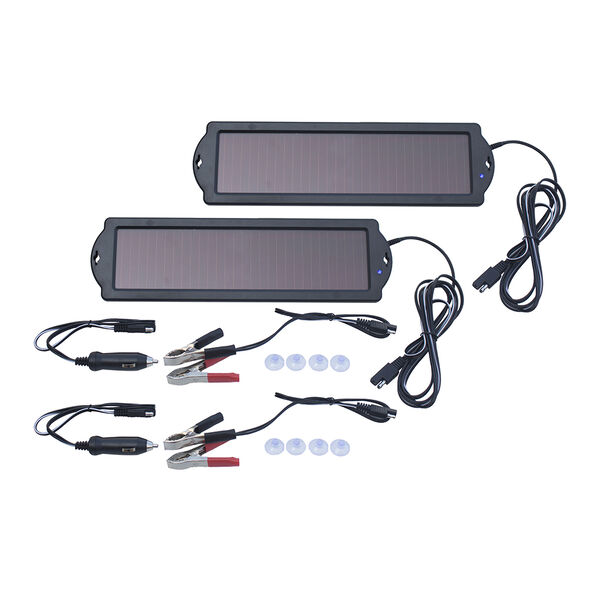 Nature Power 1.5-Watt Solar Battery Maintainer, 2-Pack